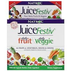 Natrol, JuiceFestiv, 2 Bottles, 60 Capsules Each