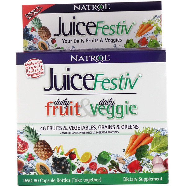 JuiceFestiv, 2 Bottles, 60 Capsules Each