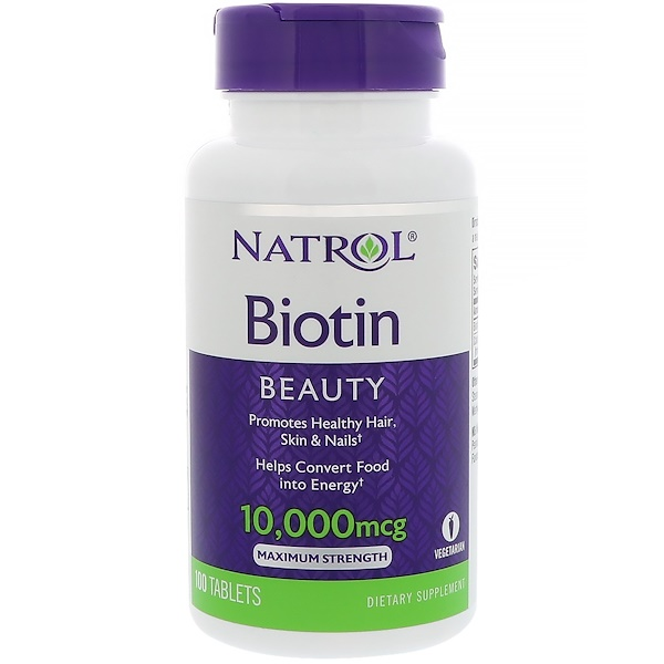 Natrol, Biotin, 10,000 mcg, 100 Tablets