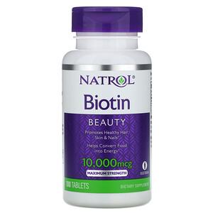 Нэтрол, Biotin, Maximum Strength, 10,000 mcg, 100 Tablets отзывы покупателей