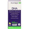 Natrol, DHA, Brain Health, Lemon, 500 mg, 30 Softgels