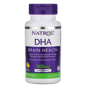 Нэтрол, DHA, Brain Health, Lemon, 500 mg, 30 Softgels отзывы