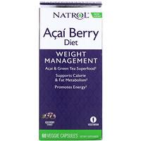 AcaiBerry Diet, суперпродукты асаи и зеленый чай, 60 вегетарианских капсул - фото