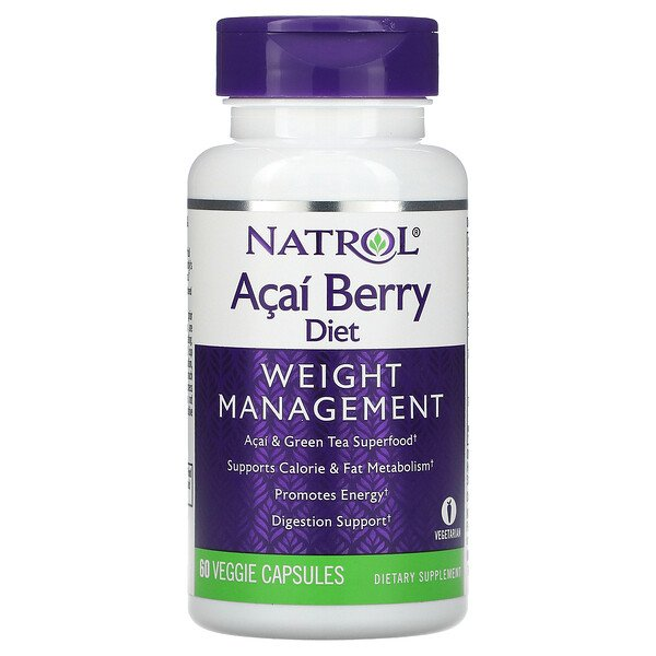 Acai Berry Diet, Weight Management, 60 Veggie Capsules