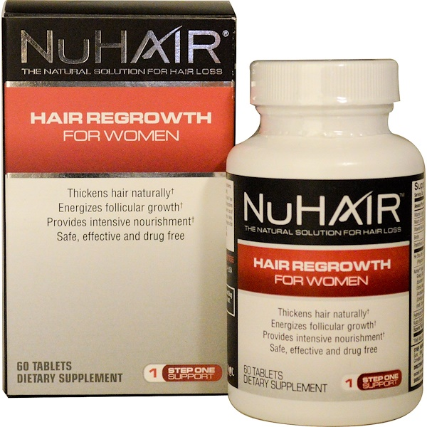 Natrol, NuHair, Hair Regrowth for Women, Step One Support, 60 Tablets (Discontinued Item)