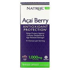Natrol, AcaiBerry 特優級超級水果素食膠囊,1000 毫克,75 粒素食膠囊