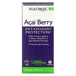 Natrol, Baya Acai, 1,000 mg, 75 cápsulas vegetales