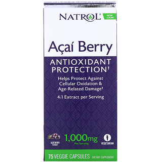 Natrol, 巴西莓,1000 毫克,75 粒素食膠囊