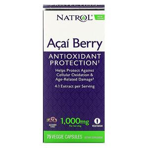 Нэтрол, Acai Berry, 1,000 mg, 75 Veggie Caps отзывы покупателей