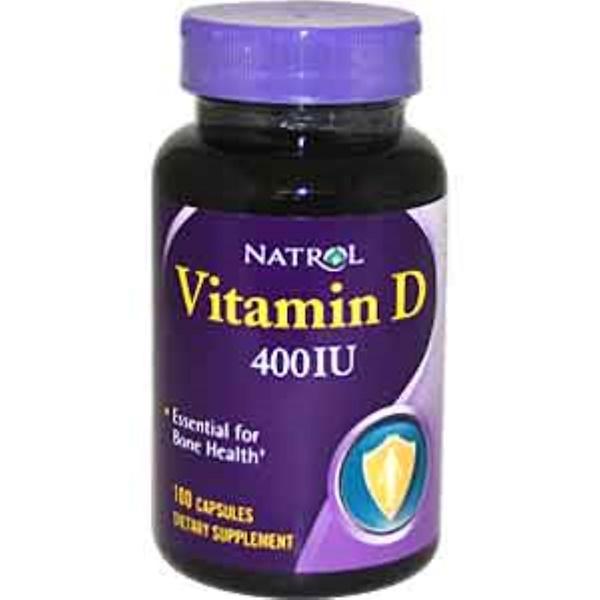 Natrol, *Vitamin D, 400 IU, 100 Capsules (Discontinued Item)