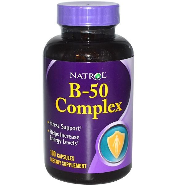 Natrol, B-50 Complex, 100 Capsules (Discontinued Item)