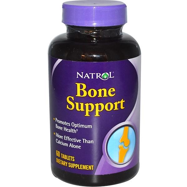 Natrol, 骨のサポート、60錠 (Discontinued Item)