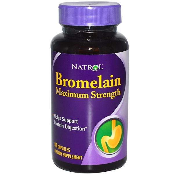 Natrol, Bromelain, Maximum Strength, 90 Capsules (Discontinued Item)
