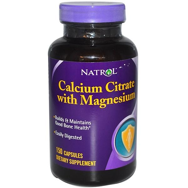 Natrol, Calcium Citrate with Magnesium, 150 Capsules (Discontinued Item)