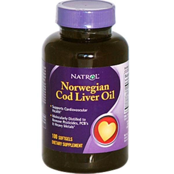 Natrol, *Norwegian Cod Liver Oil, 100 Softgels (Discontinued Item)