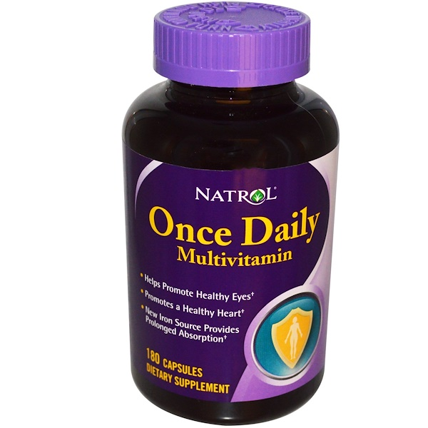 Natrol, Once Daily Multivitamin, 180 Capsules (Discontinued Item)