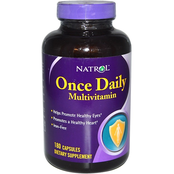 Natrol, Once Daily Multivitamin, Iron-Free, 180 Capsules (Discontinued Item)