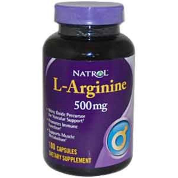 Natrol, L-Arginine, 500 mg, 100 Capsules (Discontinued Item)