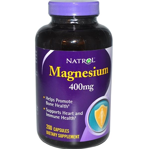 Natrol, Magnesium, 400 mg, 200 Capsules (Discontinued Item)