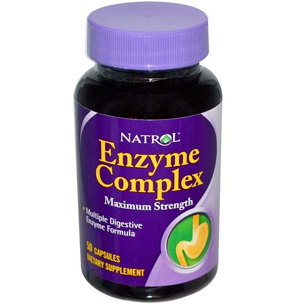 Natrol, Enzyme Complex, 50 Capsules (Discontinued Item)