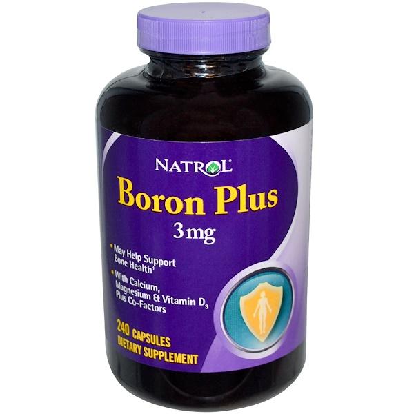 Natrol, Boron Plus, 240 Capsules (Discontinued Item)