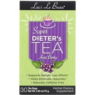 Natrol, Laci Le Beau, Super Dieter's Tea, Acai Berry, 30 Tea Bags, 2.63 oz (75 g)