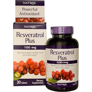 Нэтрол, Resveratrol Plus, 100 mg, 30 Tablets отзывы