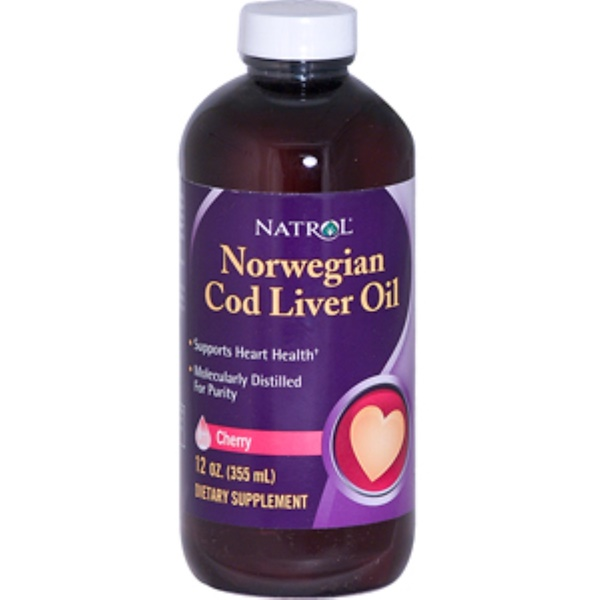 Natrol, Norwegian Cod Liver Oil, Cherry, 12 oz (355 ml) (Discontinued Item)