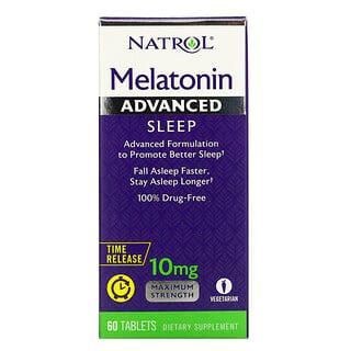 Natrol, Melatonin, Advanced Sleep, Time Release, 10 mg, 60 Tablets