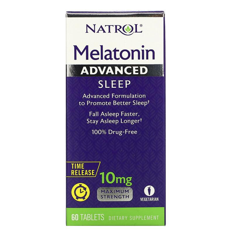 Natrol, 褪黑荷爾蒙,高級睡眠,緩釋,10 毫克,60 片