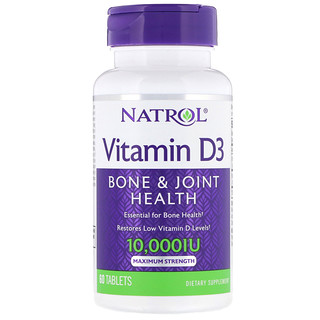 Natrol, Vitamin D3, 10,000 IU, 60 Tablets