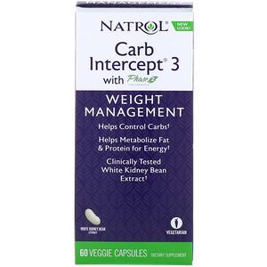 Нэтрол, Carb Intercept 3 with Phase 2 Carb Controller, 60 Veggie Caps отзывы