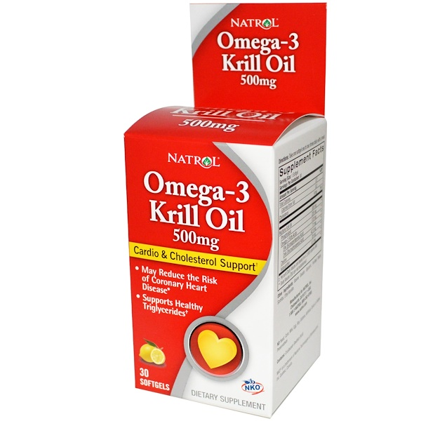 Natrol, Omega-3 Krill Oil, 500 mg, 30 Softgels (Discontinued Item)