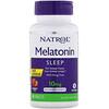 Natrol, मेलाटोनिन, नींद, तेजी से घुलना, स्ट्रॉबेरी, 10 मिलीग्राम, 60 गोलियाँ