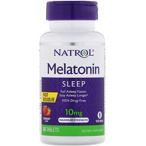 Нэтрол, Melatonin, Fast Dissolve, Maximum Strength, Strawberry, 10 mg, 60 Tablets отзывы