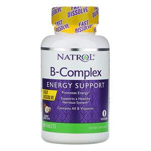 Нэтрол, B-Complex, Fast Dissolve, Coconut Natural Flavor, 90 Tablets отзывы