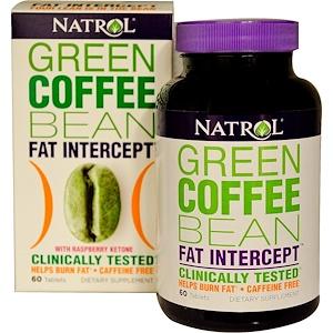 Нэтрол, Green Coffee Bean Fat Intercept, with Raspberry Ketone, 60 Tablets отзывы
