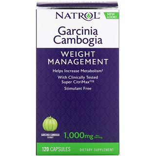 Natrol, Garcinia Cambogia, 1,000 mg, 120 Capsules
