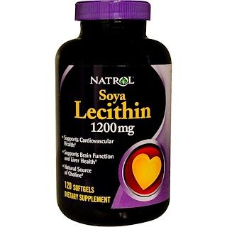 Natrol, Soya Lecithin, 1200 mg, 120 Softgels