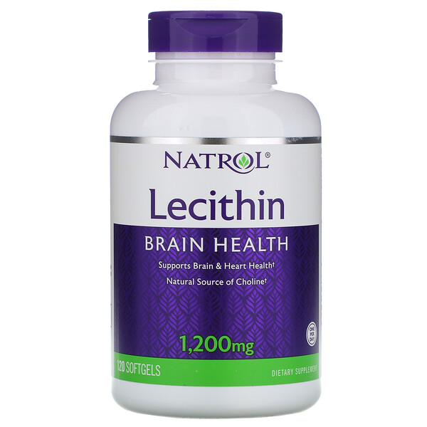 Natrol, Lécithine, 1 200 mg, 120 gélules (Discontinued Item)