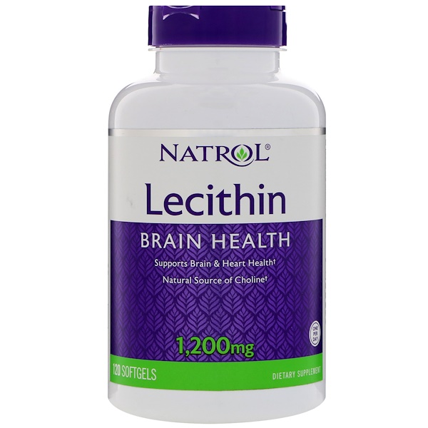 Natrol, Lecithin, 1,200 mg, 120 Softgels