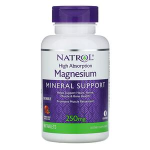 Нэтрол, High Absorption Magnesium, Cranberry Apple Natural Flavor, 250 mg, 60 Tablets отзывы покупателей