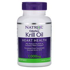 Natrol, 無味磷蝦油,1,000 毫克,30 粒軟凝膠