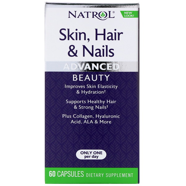 Natrol, Skin, Hair & Nails, Advanced Beauty, 60 Capsules