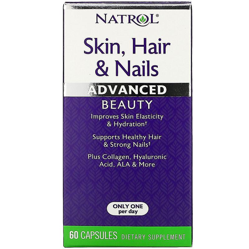 Natrol, 皮膚、頭髮和指甲,高級美容,60 粒膠囊