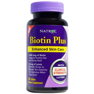 Natrol, Biotin Plus with Lutein, 60 Tablets