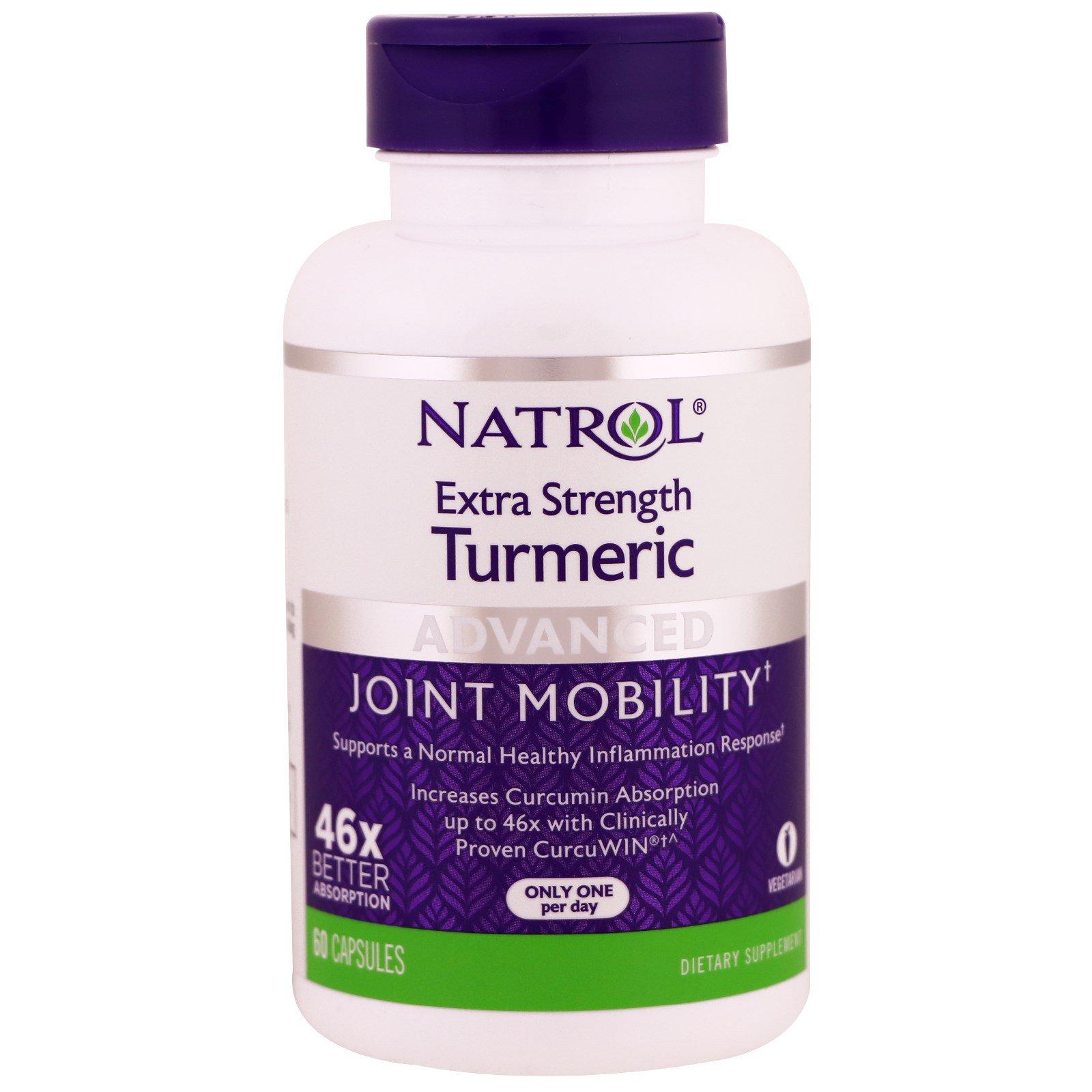Natrol, Сверхсильная куркума, 60 капсул