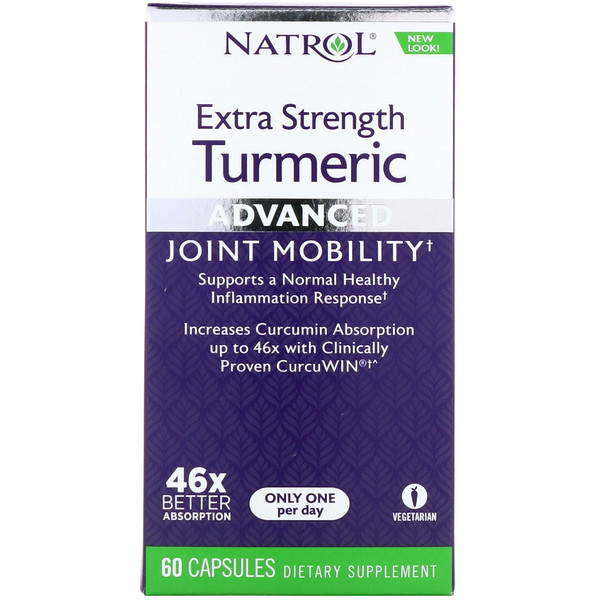 Natrol, Extra Strength Turmeric, Advanced, 60 Capsules