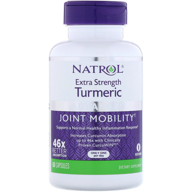 Natrol, Extra Strength Turmeric, Advanced, 60 Capsules - photo 2