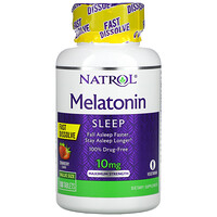 Natrol, Melatonin, Fast Dissolve, Maximum Strength, Strawberry, 10 mg, 100 Tablets